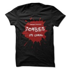 Prepare yourself, zombies are coming - This bloody T shirt is perfect for real zombie fans, Halloween party goers and The Walking Dead fans !