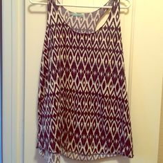 Pretty tank Pretty navy blue/cream tank top. Maurices Tops Tank Tops