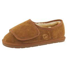 Lamo Footwear - Men's Wrap Sheepskin Ankle Boot - Adjustable Width -  Chestnut. This men's