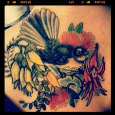 NZ Native Flower Tattoo Flower Tattoo On Side, Flower Tattoo Shoulder, Flower Tattoos, Side Tattoos, Tattoos For Guys, Cool Tattoos, Awesome Tattoos, Tattoo Outline, I Tattoo