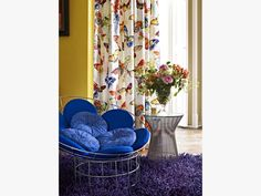 curtains with butterflys