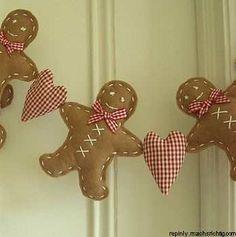 Gingerbread man garland.