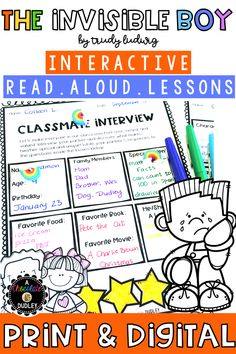 The Invisible Boy Interactive Read Aloud Lessons is the perfect companion to The Invisible Boy by Trudy Ludwig, an absolute must-read during the first couple weeks of school.  #BacktoSchool #ClassroomCommunity #TheInvisibleBoy #BacktoSchoolReadAlouds #3rdgrade #4thgrade #BacktoSchoolActivities 2nd Grade Teacher, Third Grade Math, Fourth Grade, Second Grade, All About Me Activities, Activities For Boys, Back To School Activities, The Invisible Boy, Spelling Words List