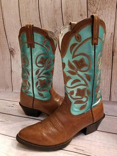 Size 7 B Ariat Metallic Hand painted Women's Western Boots