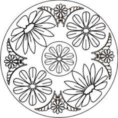 mandala blume mandala zum ausmalen windowcolor. Black Bedroom Furniture Sets. Home Design Ideas