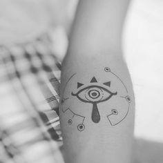 Hora de mostrar ao mundo! Sheikah Eye #tatoo #instatoo #sheikaheye #breathofthewild #challengeyourself
