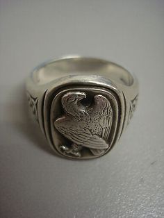 Georg Jensen Silver Eagle Ring - http://designerjewelrygalleria.com/georg-jensen/georg-jensen-silver-eagle-ring/