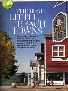 """Bay St. Louis named one of """"THE BEST LITTLE BEACH TOWNS"""" - Coastal Living Magazine,"""