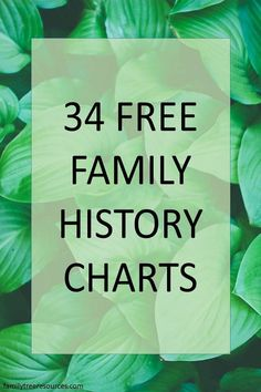 Family History Charts and templates help you enhance and document your family tree research. They are a wonderful tool to help document your genealogical research