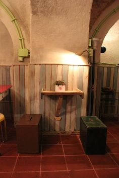 Little recycled table, Re-Cycle Café, Civitavecchia, Italy.