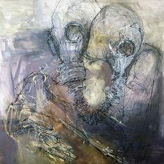 RAZVAN STANCIU-Forgive-2016 acrylic on canvas 100x100cm