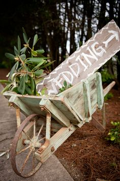 What a cute idea for a wedding in a rustic setting! Photo by 6 of Four.