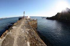 VIEW UP THE BANJO PIER, LOOE, Cornwall