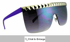 Evader Retro Shields Sunglasses - 572 Purple