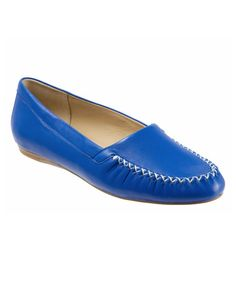 Ooo-la-la Trotters $$74.95  Look at this #zulilyfind! Royal Blue Mila Leather Loafer #zulilyfinds