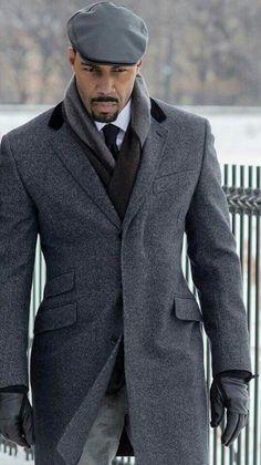 Power grey coat worn by omari hardwick more classic mens fashion, black mens fashion suits Gentleman Mode, Gentleman Style, Modern Gentleman, Sharp Dressed Man, Well Dressed Men, Swagg Man, Fashion Mode, Mens Fashion, Fashion Check