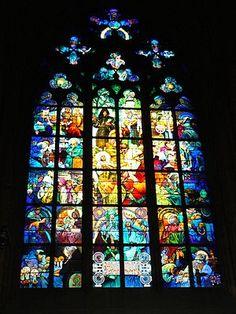 Catedral de San Vito - vitral alfons  mucha        Wikipedia, la enciclopedia libre