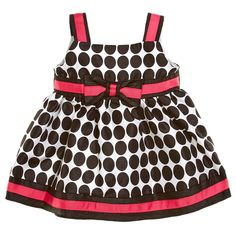 Pink Polka Dot Dress (0-9m)