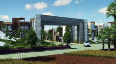 modern entrance gate elevations - Google Search