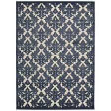 Weissport Ivory/Blue Area Rug