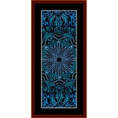 "Fractal bookmark by Cross Stitch Collectibles Finished Sizes (approximate) 18 count: 4.25"" x 11""  22 count: 3.25"" x 8.25""  Stitches: 75w x 200h  A fractal is a figure with repeating patterns containing shapes that are like the"
