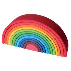 Large Rainbow Stacking Tunnel -Grimm's Spiel und Holz Design   Wooden Toys and Puzzles