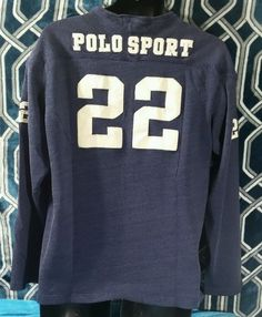 Ralph Lauren White Long Sleeved Blue Logo Shirts