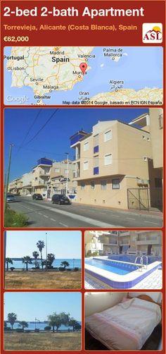 2-bed 2-bath Apartment in Torrevieja, Alicante (Costa Blanca), Spain ►€62,000 #PropertyForSaleInSpain