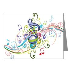 Music in the air Note Cards (Pk of 10)