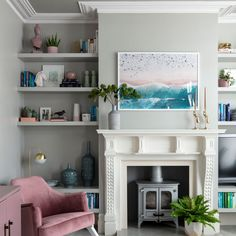 DIY Natural Wood Alcove Shelving - Easy Floating ShelvesDIY floating wood alcove shelvingClever designs for alcoves - 21 alcove ideas that make the most of awkward recesses Alcove Ideas Living Room, Living Room Storage, Living Room Pictures, Living Room Furniture, Living Room Designs, Living Room Decor, Room Ideas, Front Room Decor, Front Rooms