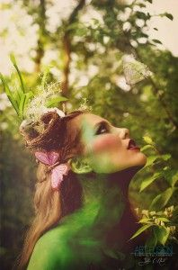 Mother Nature shoot Body Art by Allison Chase Makeup | Maquillaje corporal de Madre Naturaleza.