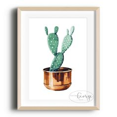 Lola & George - Prickly Pear Print Printed on quality silk card. Available in or size. Unframed - any frames and/or additional items shown in product photos not included. A3 Size, Point Of Sale, Plant Decor, A4, Frames, Silk, Printed, Cards, Photos