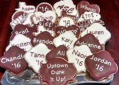 Texas Aggie Ring cookies by Sweet Station, College Station, TX 979-690-7502 10 Days notice requested.