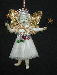 Christmas Fairy Ornament #4 - make with pic of grandma frances
