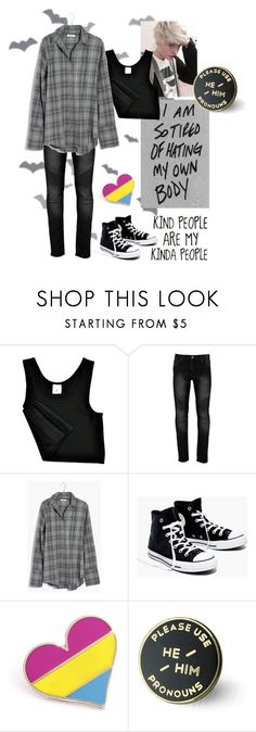 """""""Month of spoops"""" by depressed-boy ❤ liked on Polyvore featuring Madewell, men's fashion and menswear"""