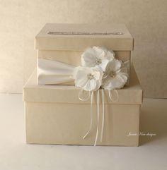 Wedding Card Box Money Box - custom made to order. $103.00, via Etsy.