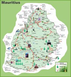 Map of Mauritius been there Pinterest Mauritius Mauritius