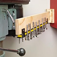 Drill Bit Storage Solution | Woodsmith Tips & How To: Cool Ways to Organize Your Drill Bits and Taps | Pinterest ...