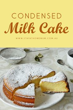 Condensed Milk Cake made me fall in love with condensed milk even more. It is unbelievably moist and dense. Sweet enough to satisfy your cravings and the texture is to die for - that is, if you baked it just right! Food Cakes, Cupcake Cakes, Cupcakes, Cake Cookies, Baking Recipes, Cake Recipes, Dessert Recipes, Easy Desserts, Delicious Desserts