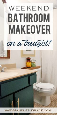 4 Easy Tips For A Bathroom Makeover on a Budget! How to makeover your bathroom on a budget Diy Home Decor Rustic, Trendy Home Decor, Farmhouse Decor, Home Improvement Tv Show, Home Improvement Projects, Home Depot, Home Renovation, Home Remodeling, Cheap Renovations