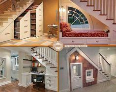 Idéer til udnyttelse af plads under trapper