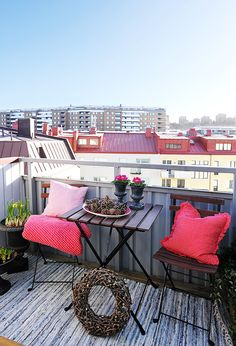 Swedish apartment interior design - View from the Balcony| via designrulz.com | #InteriorDesign #SwedishInteriors #Apartments | Read more: http://www.designrulz.com/spaces-for-living/living-product-design/2012/04/swedish-apartment-always-young-and-refreshing/