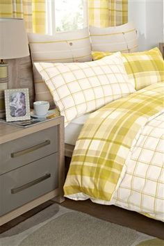Buy Ochre Check Bed Set Two Pack from the Next UK online shop