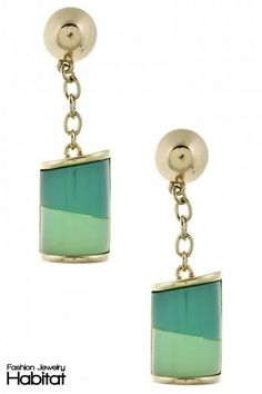 Color Block Gemstone Earrings - $12.00 at FashionJewelryHabitat.com - #FashionJewelryHabitat #FashionHabitat