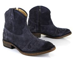 Annie Charcoal Suede western ankle boot | Seven Boot Lane