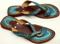 Leather Sandals With Dotted Panel Mens Ladies Indian