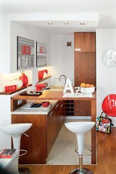 Kawalerska kuchnia Decor, Furniture, Table, Kitchen, Home, Bar, Corner Desk, Home Decor, Desk
