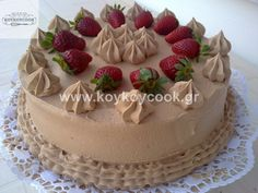 τουρτα μοκα Greek Sweets, Greek Desserts, Party Desserts, Greek Recipes, Cookbook Recipes, Cookie Recipes, Dessert Recipes, Party Recipes, Kai
