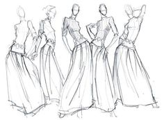 Fashion Pencil Sketches | Fashion Illustration, cadamatre: fashion sketches, pencil sketch