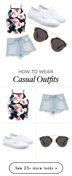 """Beach or casual"" by mirandasing on Polyvore featuring Vans, Christian Dior, women's clothing, women's fashion, women, female, woman, misses and juniors"